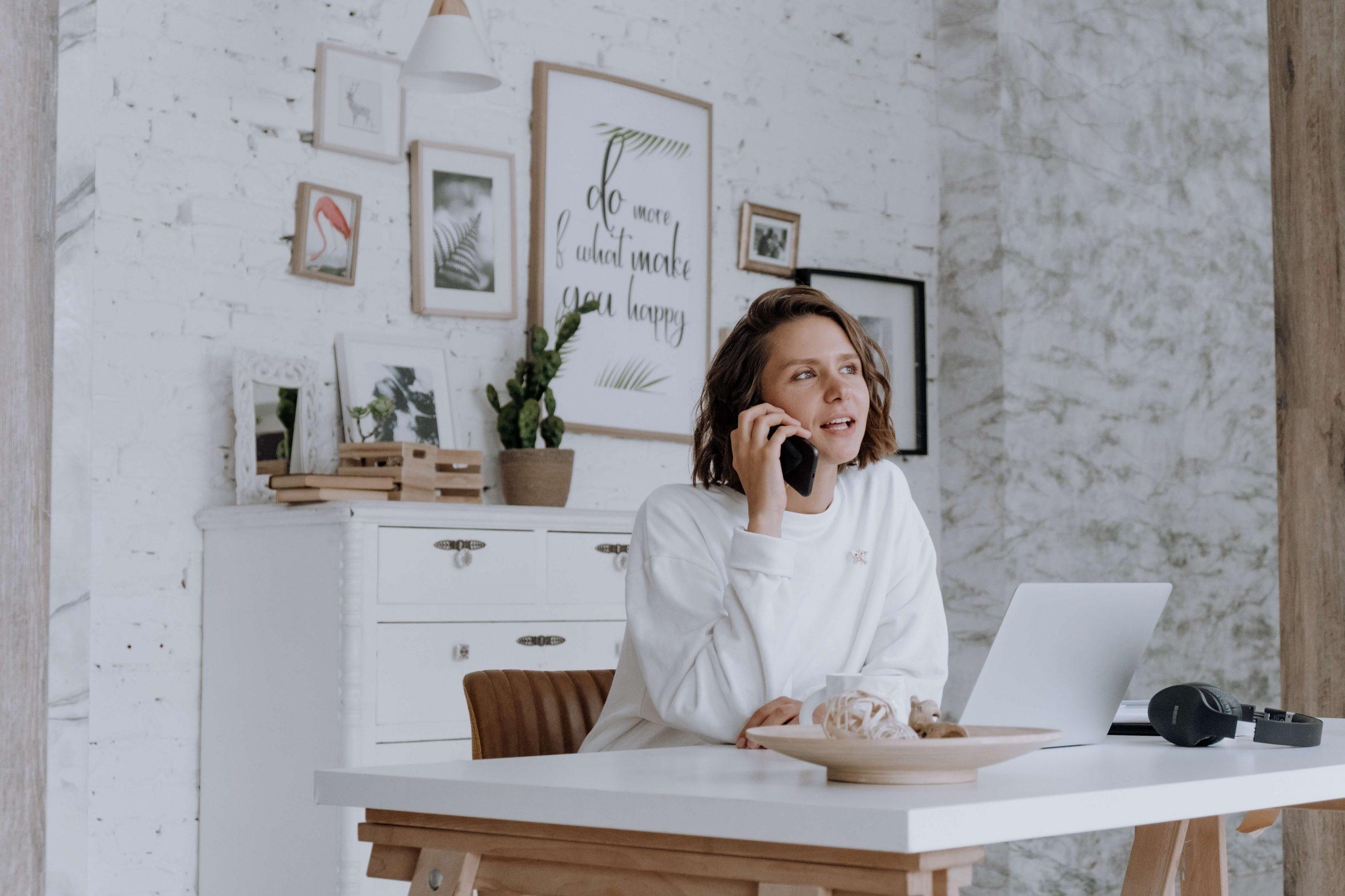 woman entrepreneur on the phone